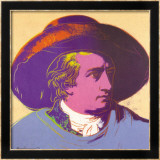 Goethe Red and Black Poster by Andy Warhol