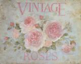 Vintage Rose Kunstdrucke von Debi Coules