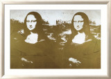 Two Golden Mona Lisas Art by Andy Warhol