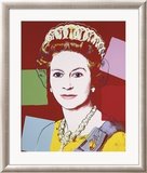 Reigning Queens: Queen Elizabeth II of the United Kingdom, c.1985 (Dark Outline) Póster por Andy Warhol