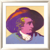 Goethe Red and Black Art par Andy Warhol