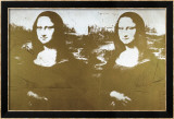 Two Golden Mona Lisas Póster por Andy Warhol