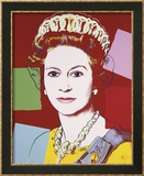 Reigning Queens: Queen Elizabeth II of the United Kingdom, c.1985 (Dark Outline) Lámina por Andy Warhol