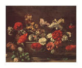 Still Life with Carnations Print by Bernardo Strozzi