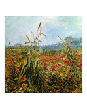 Field with Poppies Giclee Print by Vincent van Gogh