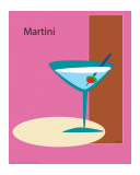 Martini in Pink Giclee Print by  ATOM