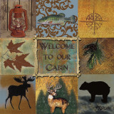 Welcome to Our Cabin Prints by Karen Lees