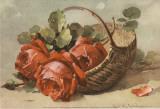 Corbeilles de Roses IV Print by C. Klein