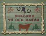 Welcome to Our Ranch Poster by Karen Lees