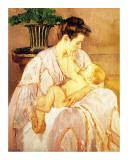 Äiti ja lapsi (Mother and Child) Giclee-vedos tekijänä Mary Cassatt