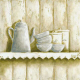 Etagère, Café Sucre Print by Véronique Didier-Laurent