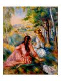 On the Meadow Giclee Print by Pierre-Auguste Renoir