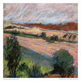Pastel Fields IV Poster av Jacques Clement