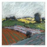 Pastel Fields V Affischer av Jacques Clement