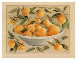 Coupe d'Agrumes, Oranges Affiche par Laurence David