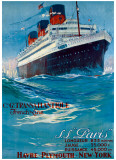 S.S. Paris Giclee Print by Albert Sebile