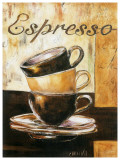 Espressos 3 Tasses Posters by  Clauva