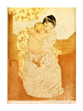 Maternal Caress Giclee Print by Mary Cassatt