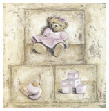 Nounours Rose Art by Véronique Didier-Laurent