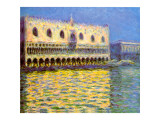 Venice, the Doge Palace Reproduction proc&#233;d&#233; gicl&#233;e par Claude Monet
