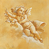 Happy Cherubs III Print by Taddei