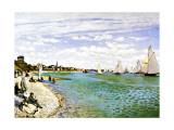 Playa de Sainte-Adresse Lámina giclée por Claude Monet