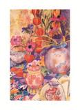 Nature morte aux fleurs Affiches par Rosalind Moysen
