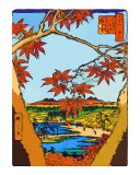 Red Leaves at Mama Giclee Print by  Hiroshige II