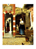 Dutch Courtyard of a House in Delft Giclee Print by Pieter de Hooch