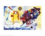 Amarillo-rojo-azul, 1925 Póster por Wassily Kandinsky