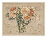 Vase de Roses II Art by Laurence David