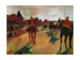 Race Horses in Front of the Grandstand Wydruk giclee autor Edgar Degas