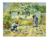 First Steps Giclee Print by Vincent van Gogh