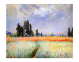 Distant Poplars Giclee Print by Claude Monet