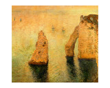 Rocks at Sea Giclee Print by Claude Monet