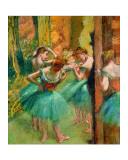 Tänzerinnen in rosa und grün Giclée-Druck von Edgar Degas