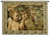 Whispering Angels Wall Tapestry by Agostino Carracci