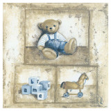 Nounours Bleu Prints by V&#233;ronique Didier-Laurent