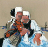 La Leçon Prints by Maryvonne Jeanne-Garrault