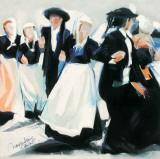 Danse Rue St-Thomas Prints by Maryvonne Jeanne-Garrault