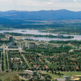 Canberra and Lake Burley Griffin, Australia, Photographic Print