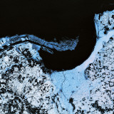 Satellite View of a Landscape, Gdansk, Poland Photographic Print by De Agostini