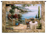 Mediterranean Terrace I Wall Tapestry by Vivian Flasch