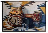 Kokopelli Pot Wall Tapestry by Judith Durr