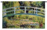Puente japonés Tapiz por Claude Monet