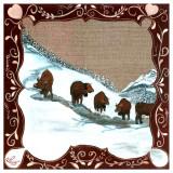 5 Vaches dans la Neige Prints by Nathalie Renzacci