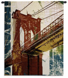 Into Manhattan II Wall Tapestry by Noah Li-Leger