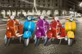 Vespas - Rome Kunstdruck