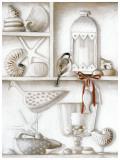 Etagere, Ruban Poisson Poster par Michele Letang