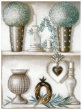 Etagere, Topiaires Prints by Michele Letang